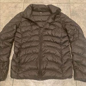 Brown Uniqlo rain coat